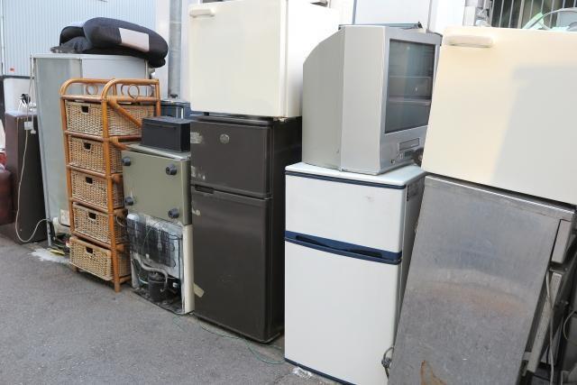 廃棄前の家電製品