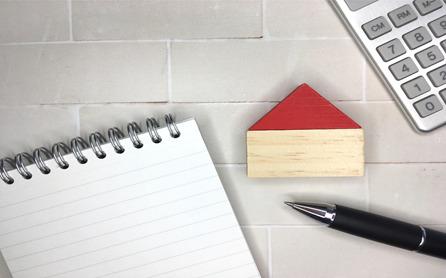 ノート ボールペン 積み木の家 電卓