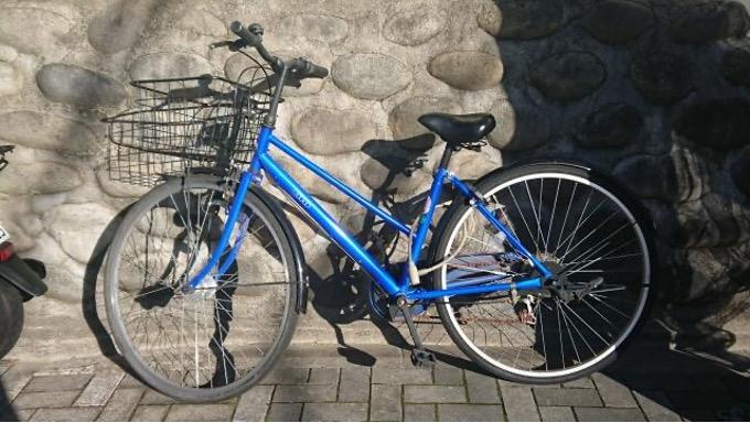 青い自転車 石垣